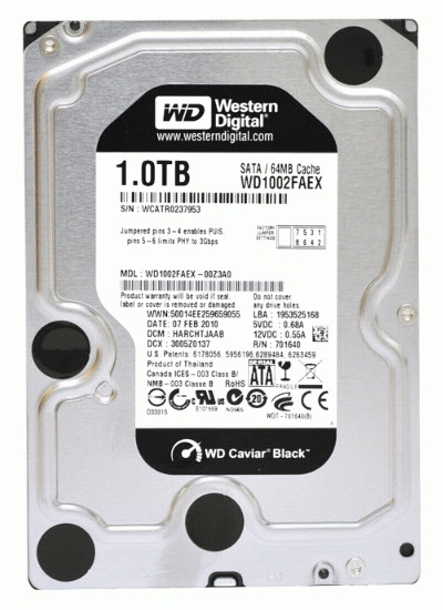 Harddisk Internal WD Black 1TB